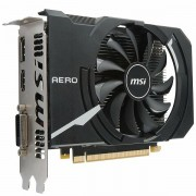 MSI Video Card GeForce GTX 1050 Ti OC GDDR5 4GB/128bit, 1341MHz/7008MHz, PCI-E 3.0 x16, DP, HDMI, DVI-D, Sleeve Fan Cooler Double Slot, Retail GTX_1050_TI_AERO_ITX_4G_OC