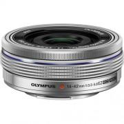 Olympus 14-42mm F/3.5-5.6 Ed Ez M.Zuiko - Argento - 4 Anni Di Garanzia