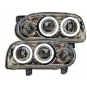 Faruri Angel Eyes VW Golf 3 1HX0/ 1EX0 91-97 crom