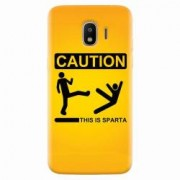Husa silicon pentru Samsung Galaxy J2 2018 This Is Sparta Funny Illustration