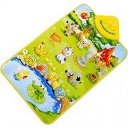 VESNIBA Farm Animal Musical Music Touch Play Singing Gym Carpet Mat Toy Gift