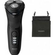 Aparat de ras Philips Shaver series 3000 S3233/52 Autonomie 60 min Lame PowerCut Capete 5D Husa calatorie Negru