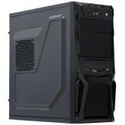 Calculator Sistem PC Gaming (Procesor Intel® Core™ i3-4160 (3M Cache, up to 3.60 GHz), Haswell, 8GB DDR3, 500GB HDD + 120GB SSD, AMD Radeon RX 550 4GB, DVD-RW, Negru)
