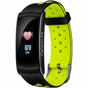 Smart watch, 0.96inches LCD, IP68 waterproof, multi-sport mode, compatibility with iOS and android, weather display, Black-Green, Host: 48x22x12mm, Strap: 250x22mm, 25g CNS-SB41BG