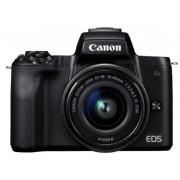 """Aparat Foto Mirrorless Canon EOS M50 + EF-M 15-45mm IS STM, 24.1 MP, Filmare 4K, TFT 3"""" (Negru)"""