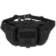 Aeoss Outdoor Unisex Waist Bag Tactical Military Waist Pack Chest Bag Pouch Waist Pack With Water Bottle Pocket Holder Molle Fanny Hip Belt Bag Unisex Waist Bag(Black)
