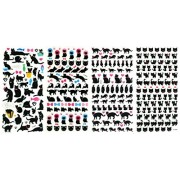 3D-SET031-BLACKCAT - 4 Sheets Black Cat Sticker Doll 3D Puffy Adhesive Sticker Scrapbooking For Girl (Size 3. 5 X 7.25 Inch./sheet)