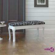 vidaXL Klupica za toaletni stolić, 110 cm, crna