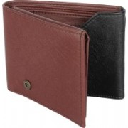 SAMTROH Men Casual Brown, Black Artificial Leather Wallet(5 Card Slots)