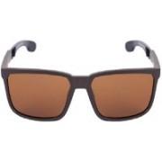 MARC LOUIS Rectangular Sunglasses(Brown)