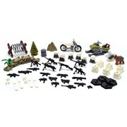 Arundel Services EU Mini Figures Snow 2 Army Patrol War Pack with Military Weapons and Accessories Building Bricks Guns Soldier Blocks Lego Compatible Minifigures