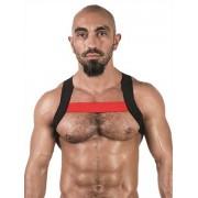 Mister B Urban X Back Club Harness Black/Red 820565
