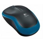 Egér, vezeték nélküli, optikai, közepes méret, USB, LOGITECH M185, kék (LGEM185B)