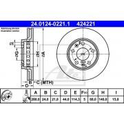 DISC FRANA - ATE - 24.0124-0221.1 / 424221