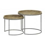 hoom-amsterdam Salontafels COPAN set van 2 grey+wood