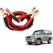 Auto Addict Premium Quality Car 500 Amp Heavy Duty Copper Core Tangle Battery Booster Cable 7.5 Ft For Tata Sumo
