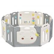 Costway Parc d'Activités Pliable pour Bébé avec Barrière de Sécurité et Sac de Rangement