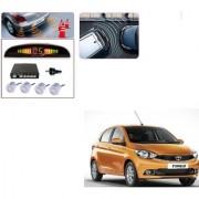 Auto Addict Car Silver Reverse Parking Sensor With LED Display For Tata Tiago