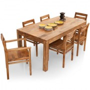 Shagun Arts - Gresham- 6 Seater Dining Table Set(With Armchairs)