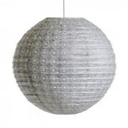 Ronde hanglamp Sidy, java motief