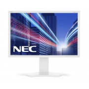 NEC MultiSync P242W white 24.1' LCD monitor with LED backlight, IPS panel, 1920x1200, VGA, DVI-D, DisplayPort, HDMI, PiP, DUC, 14-bit LUT, 150 mm height adjustable