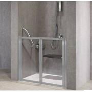 Novellini Porte de douche à rabat gratuit 2P 90 - transparent - argent - Avec joint inféri