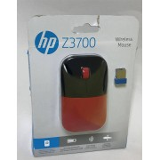 HP Z3700 Wireless Mouse, 1200 DPI, Optical Mice PC/Mac - Black Red
