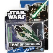 Star Wars 2011 Class I Transformers Crossovers Saesee Tiin to Jedi Starfighter