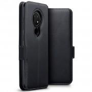 Qubits - lederen slim folio wallet hoes - Nokia 6.2 / 7.2 - Zwart