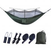 Outdoor Travel Camping Tent Swing Bed Mosquito Net Hanging Hammock - Dark green