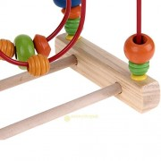 AST Works Educational Wooden Toys Baby Kids Math Game Colorful Mini Around Beads Wire Maze