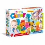 Set cuburi moi pentru bebelusi Clemmy - Animale domestice