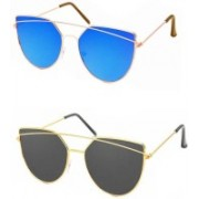 Sulit Cat-eye Sunglasses(Blue, Black)