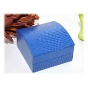 Ecrin Bijoux Boucles d'Oreilles Lezard Bleu