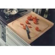 Kuchynské prkénko drevené, š/v/h: cca. 48x2,5x58 cm