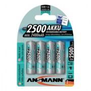 ANSMANN Batterie d´accumulateur maxE 1,2 V 2500 mAh R6-AA-Mignon HR6 4 4pces/blister ANS