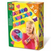 Детски комплект - Направи си сам - Гривни от велкро SES, 080965