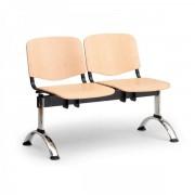 Kovo Praktik Dřevěné lavice ISO II, 2-sedák, chrom nohy