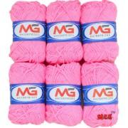 M.G Pink Pack of 14 Balls hand knitting Acrylic yarn wool balls thread for Art & craft Crochet and needle