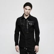 Punk Rave Night Flight Buckled Long Sleeved Shirt Black Y-800