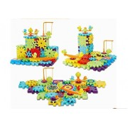 81 PCS Gear Building Blocks Set Educational Toy Interlocking Learning Blocks Colorful Shapes Puzzle Funny Electric Bricks Motorized Spinning Gears for Children Kids Boys Girls