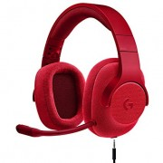 Logitech G433 7.1 Wired Gaming Headset with DTS Headphone: X 7.1 Surround for PC, PS4, PS4 PRO, Xbox One, Xbox One S, Nintendo Switch Fire Red