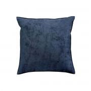 Miliboo Coussin en velours bleu 45 x 45 cm ALOU