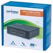 Manhattan 2-Port HDMI Splitter - 2-Port, 4K@30Hz,