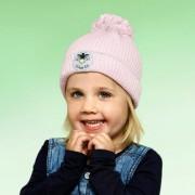 Twinkle Kid Reflektor-Mütze reflektierende Kindermütze mit Leuchtbommel, Rosa, Gr. 54/56