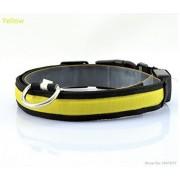 JFLAI Collar de perro LED de nailon para mascotas, collar de perro, color luminoso, LED