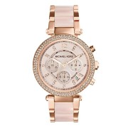 Michael Kors Parker Rose Gold Stone Set Watch MK5896