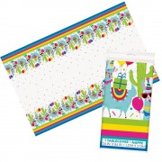 Llama Table Cover - Wipe-Clean Table Cloth For Kids Llama Birthday Parties. Size 137 x 213cm.