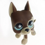 5cm Lovely Pet Action Figure LPS Brown Great Dane Dog Puppy Dot Eyes Kids Gifts With Opp Bag