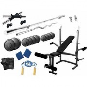 Protoner 20 Kgs PVC weight with 5 in 1 Bench home gym package